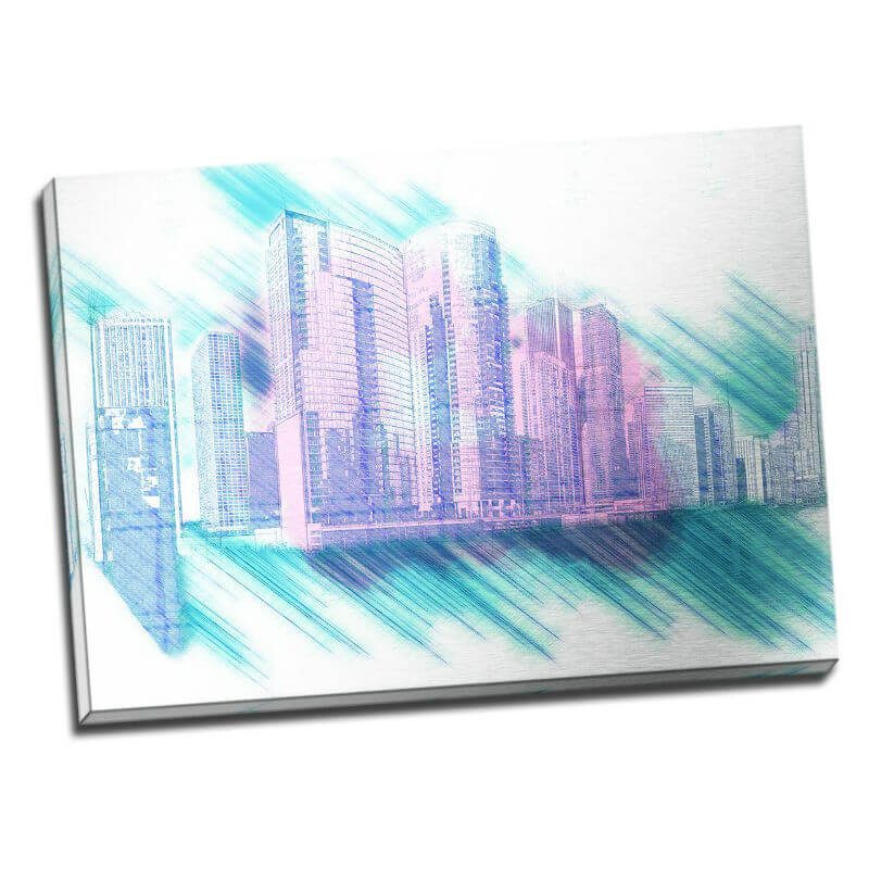 Tablou Chicago - Vis in metropola - Aspect zona luminata