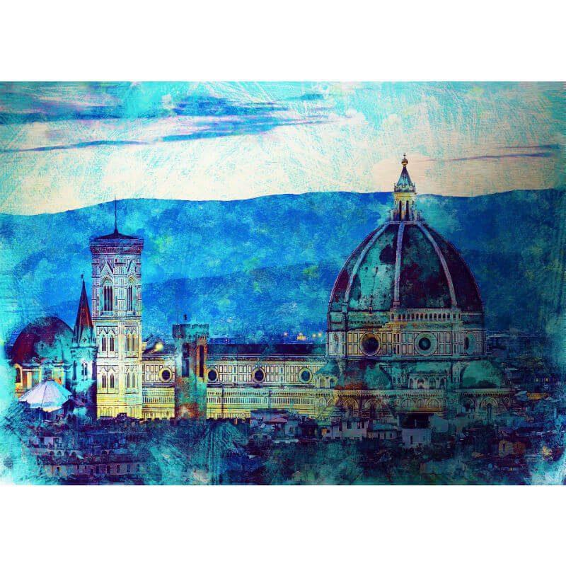 Tablou Florenta - Catedrala - Aspect zona intunecata