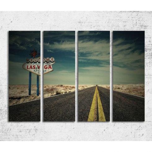 Tablou Forex 4 piese - Drum catre Las Vegas - Catalog