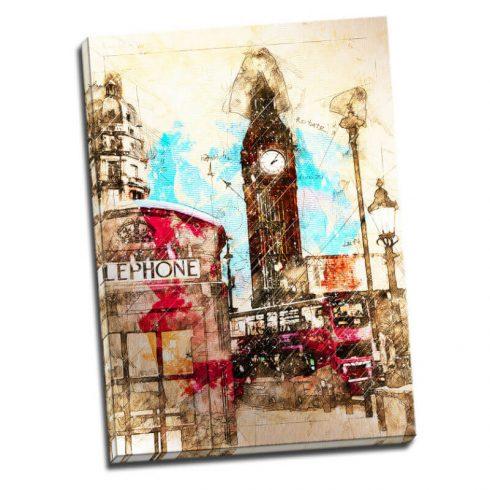 Tablou Londra vintage - Aspect zona luminata