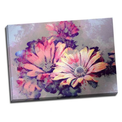 Tablou floral cu margarete - Aspect zona luminata