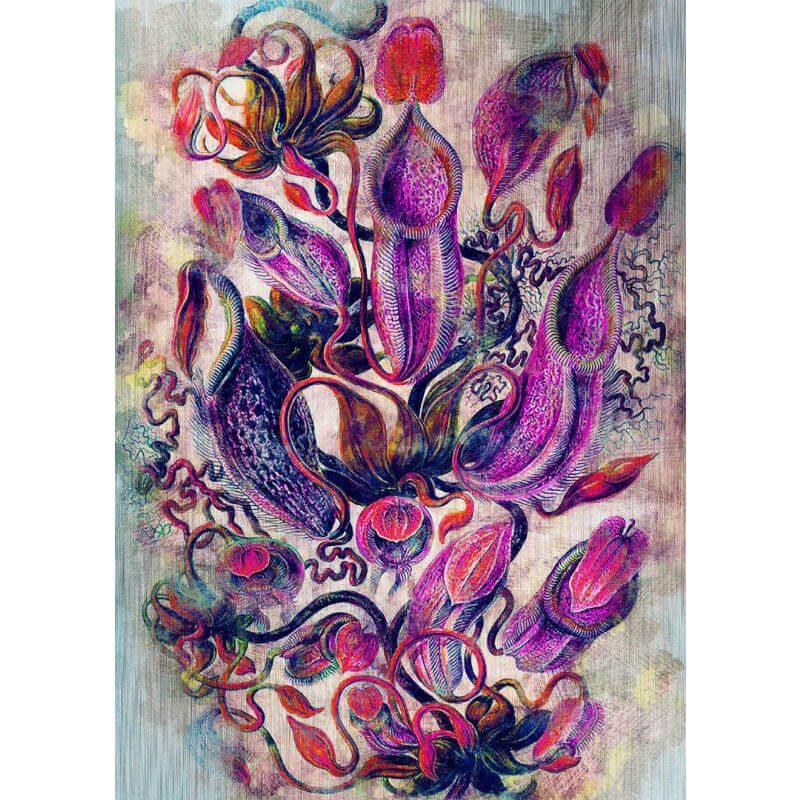 Tablou flori exotice - Dans violet - Aspect zona intunecata