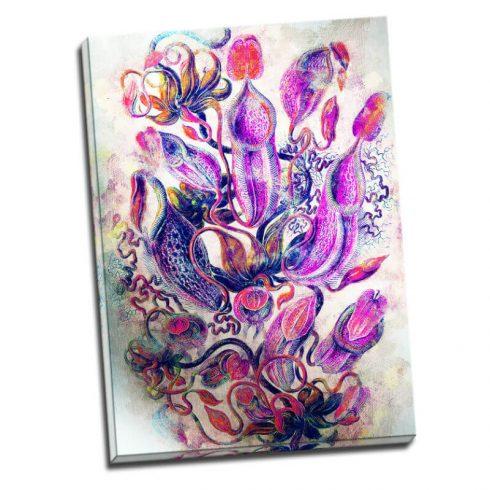 Tablou flori exotice - Dans violet - Aspect zona luminata