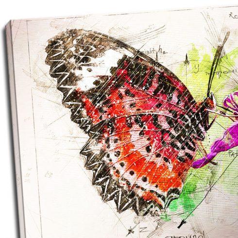 Tablou fluture - Botanica in culori - Detaliu