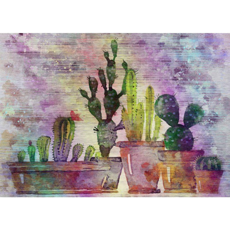 Tablou pentru bucatarie Cactusi colorati - Aspect zona intunecata
