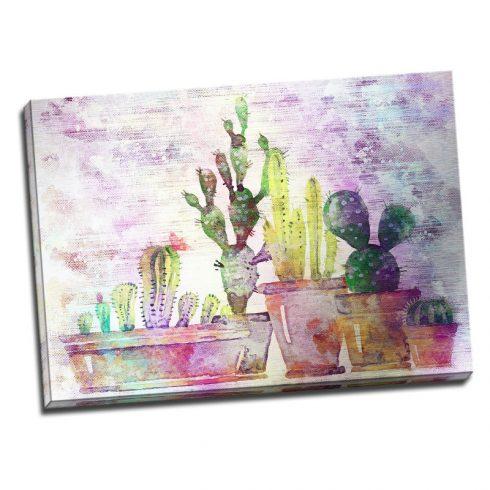 Tablou pentru bucatarie Cactusi colorati - Aspect zona luminata