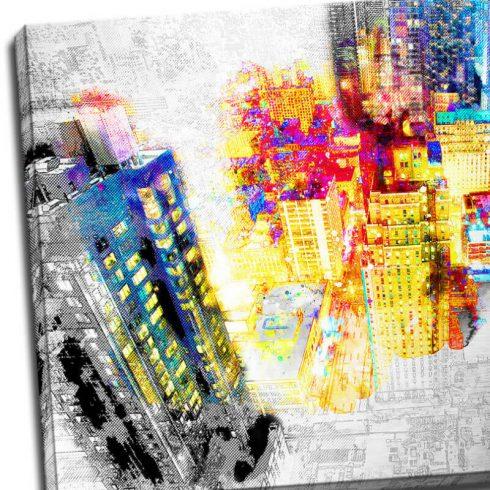 Tablou urban print pe aluminiu Inima orasului - Detaliu