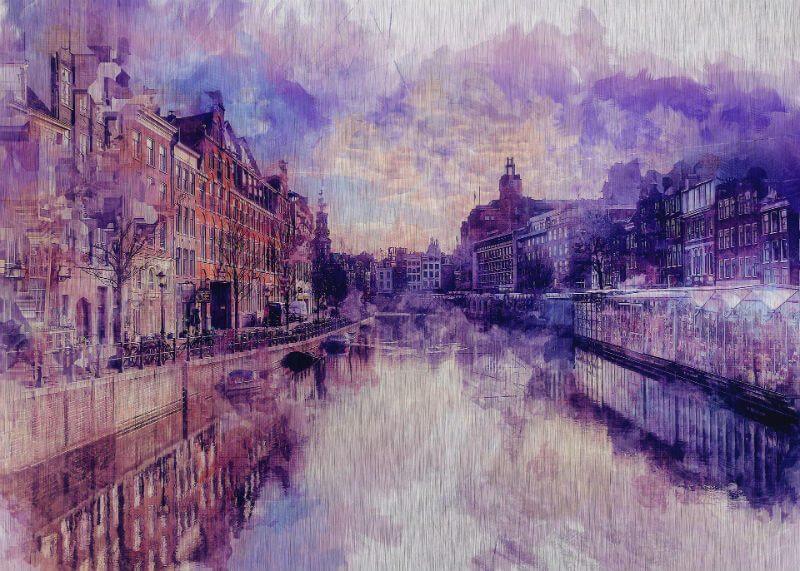 Tablou Amsterdam vintage - Aspect zona intunecata
