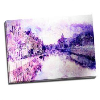 Tablou Amsterdam vintage - Aspect zona luminata