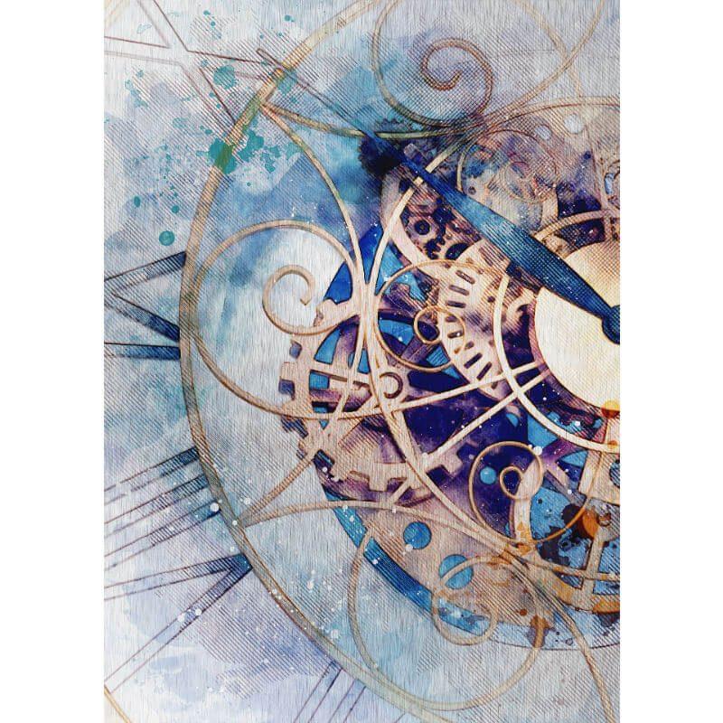 Tablou ceas steampunk - Opreste timpul - Aspect zona intunecata