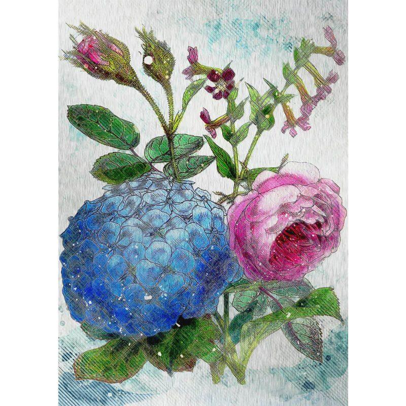 Tablou cu flori - Botanica in culori - Aspect zona intunecata