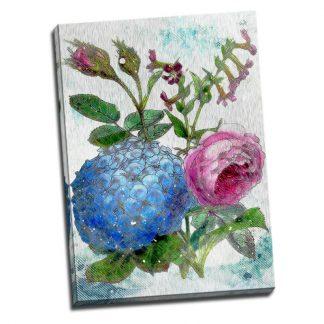 Tablou cu flori - Botanica in culori - Aspect zona luminata