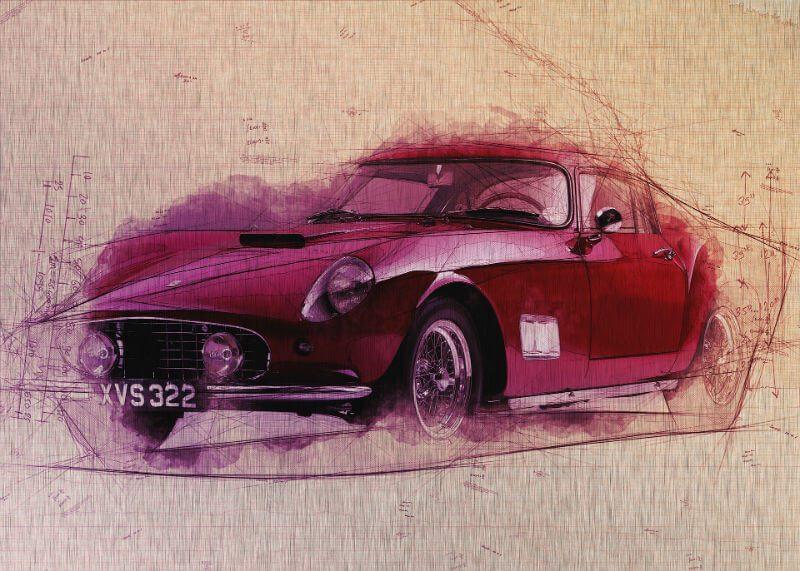Tablou masina vintage - Calatorie - Aspect zona intunecata