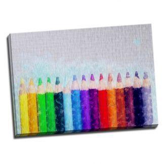 Tablou creioane colorate - Aspect zona luminata