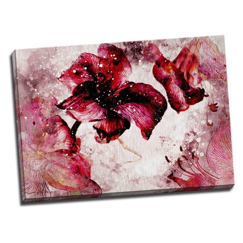 Tablou floral cu crini stilizati - Catalog