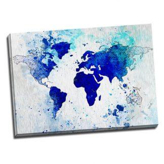 Tablou harta lumii albastra - Aspect zona luminata
