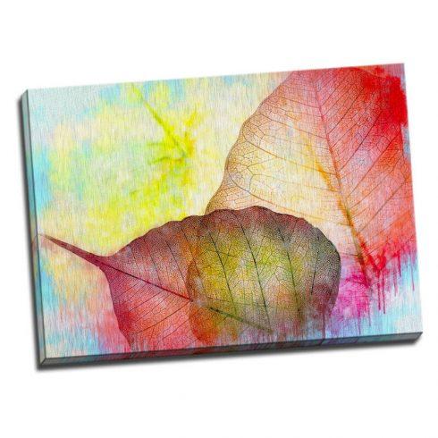 Tablou modern cu frunze colorate - Aspect zona luminata