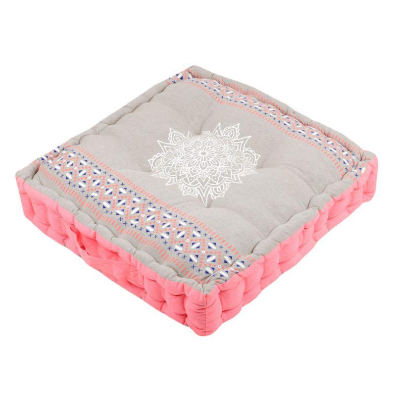 Perna de podea roz cu mandala alba - Catalog