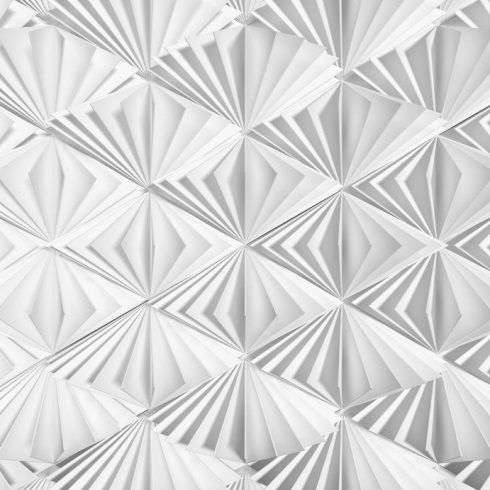 Fototapet alb cu efect 3D Delta