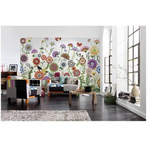 fototapet cu flori colorate