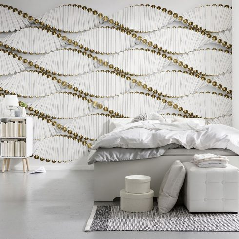 Fototapet modern spirale albe 3D