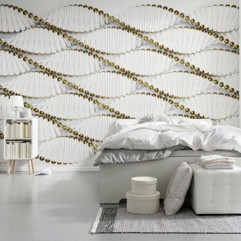 Fototapet modern spirale albe - Ambient