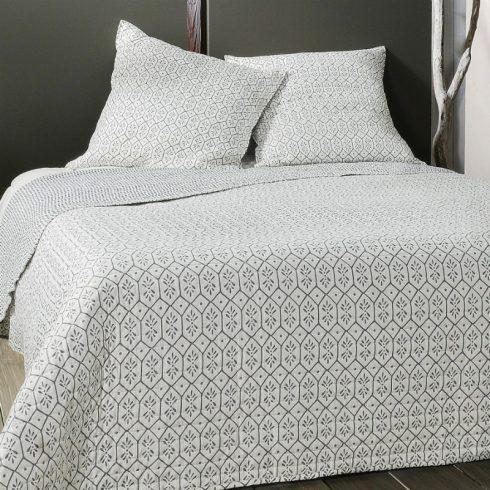 Cuvertura de pat moderna alba cu romburi gri Faro - Catalog
