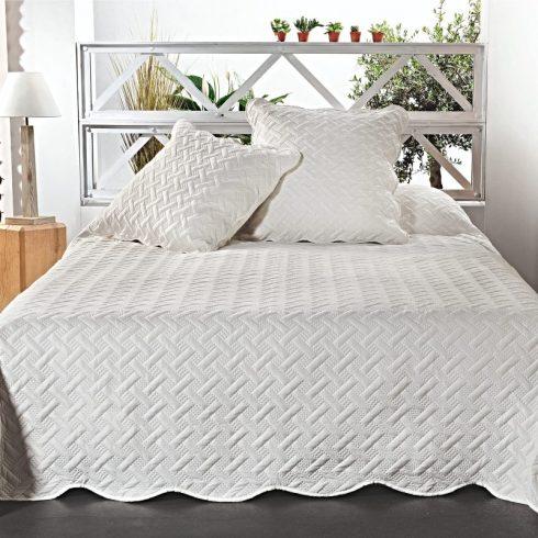 Cuvertura dormitor alba cu fete de perna Californie - Catalog