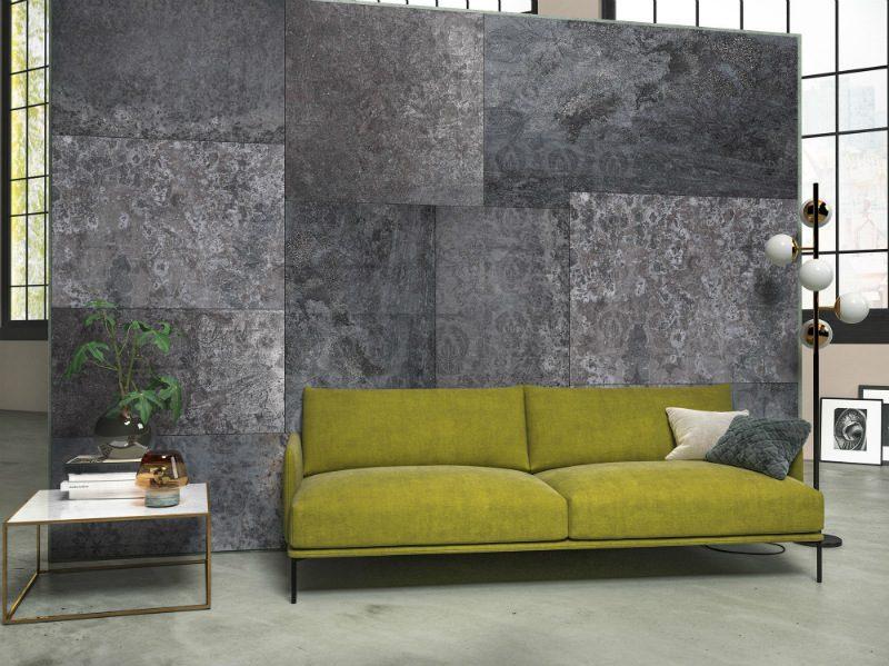 Fototapet contemporan perete de marmura gri - Ambient