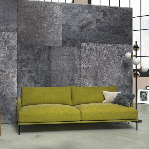 Fototapet contemporan perete de marmura gri