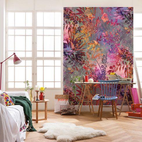 Fototapet cu plante multicolore – Gradina din vis