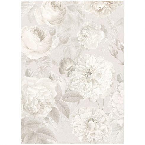 Fototapet cu trandafiri salbatici in nuante gri