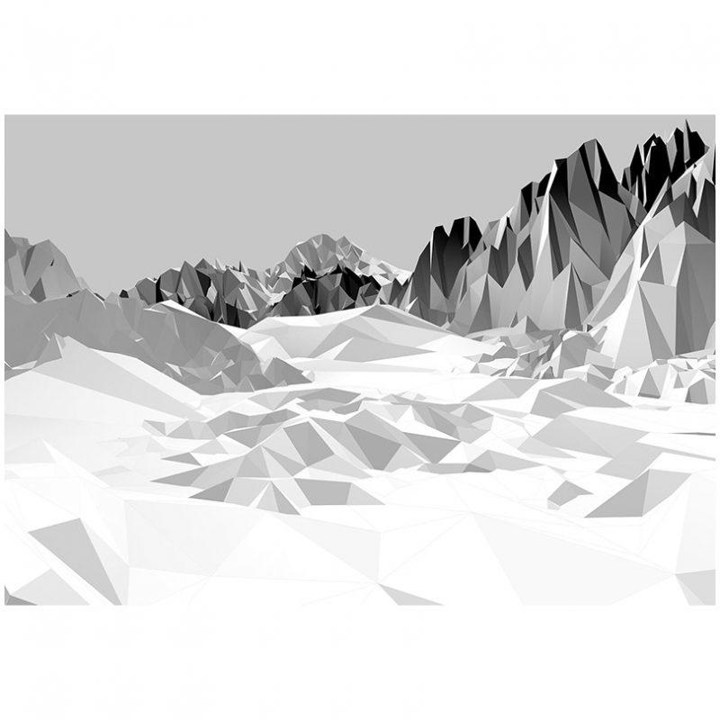 Fototapet grafic cu munti