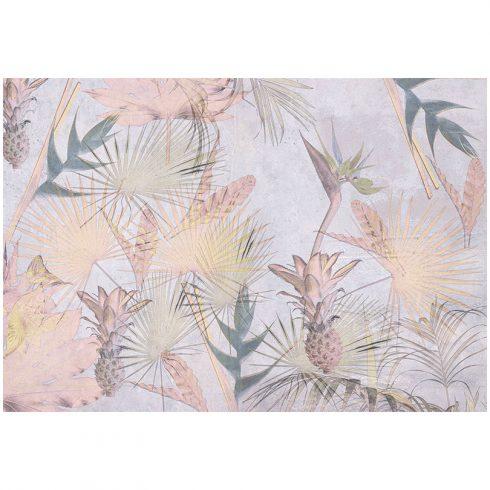 Fototapet tropical cu flori si ananasi