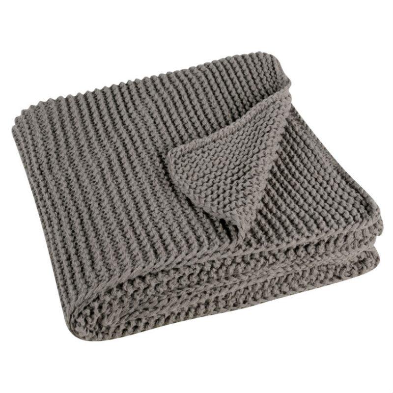 Pled bej tricotat 130x180 cm Kinoa