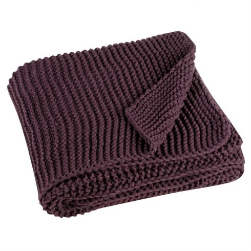 Pled mov tricotat 130x180 cm Kinoa - Catalog