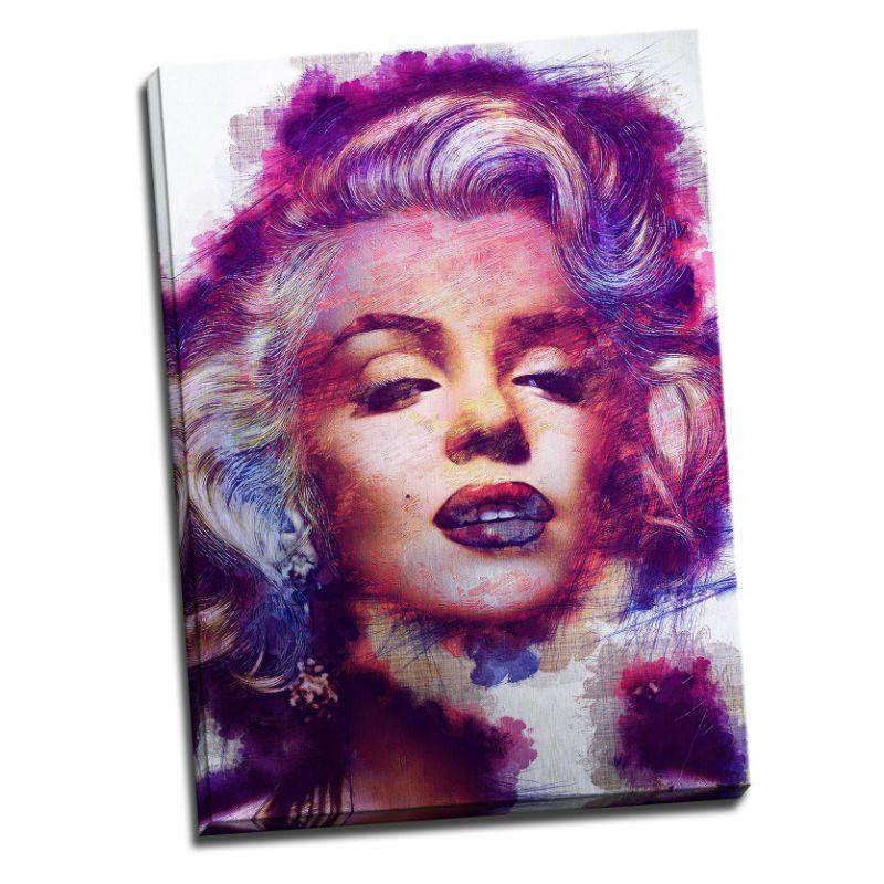 Tablou Marilyn Monroe printat pe aluminiu - Aspect zona luminata