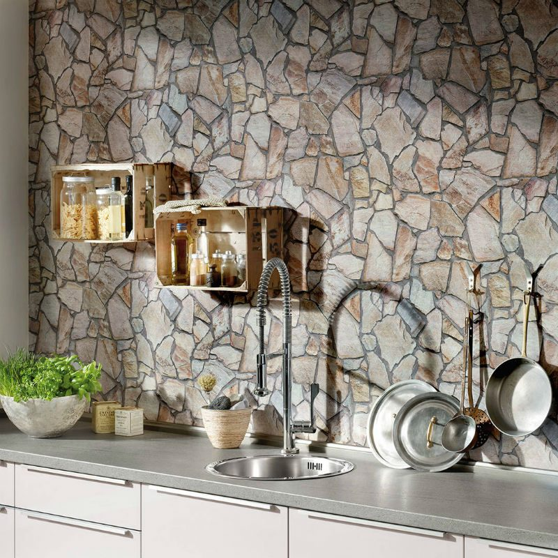 Tapet lavabil piatra rustica AS Creation - Ambient 1