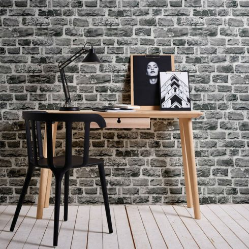 Wood and stone wallpaper