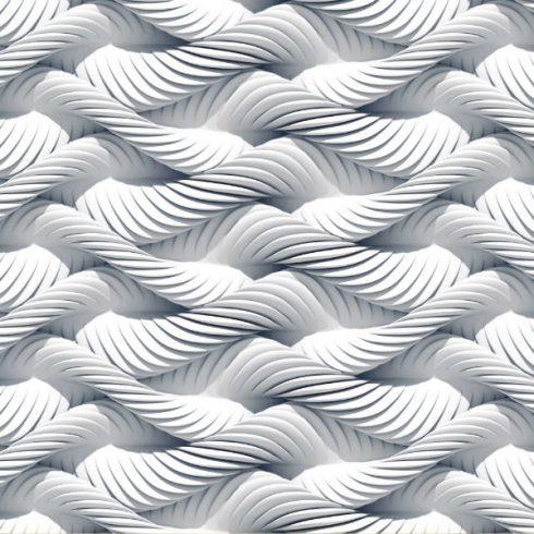 Fototapet modern spirale albe impletite - Catalog