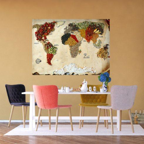 Fototapet bucatarie cu harta lumii - Ambient