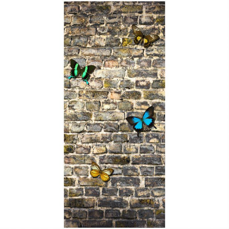 Fototapet cu fluturi pe zid