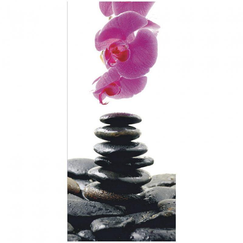 Fototapet cu orhidee si pietre