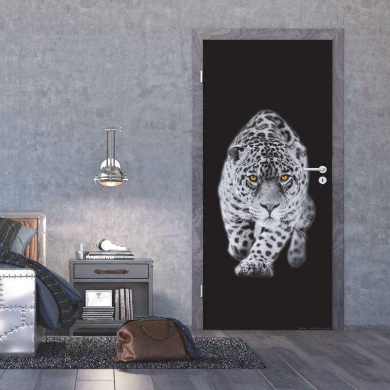 Fototapet leopard alb negru - Ambient