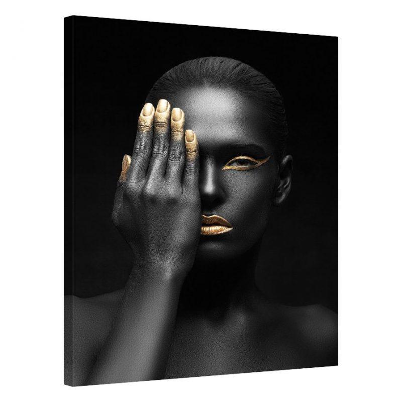 Tablou negru chip de femeie Gloss