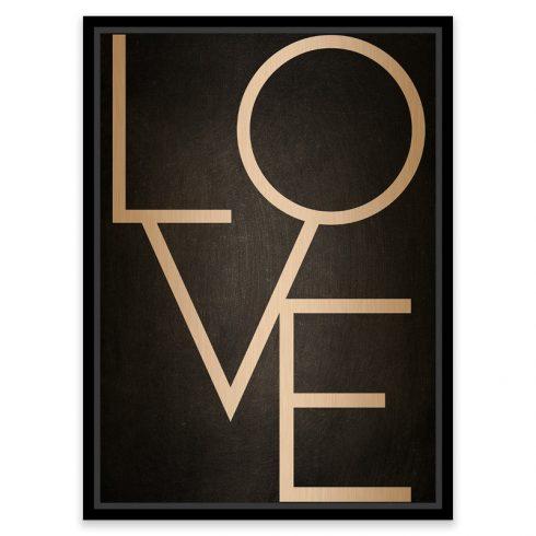Tablou negru cu mesaj Love - Catalog