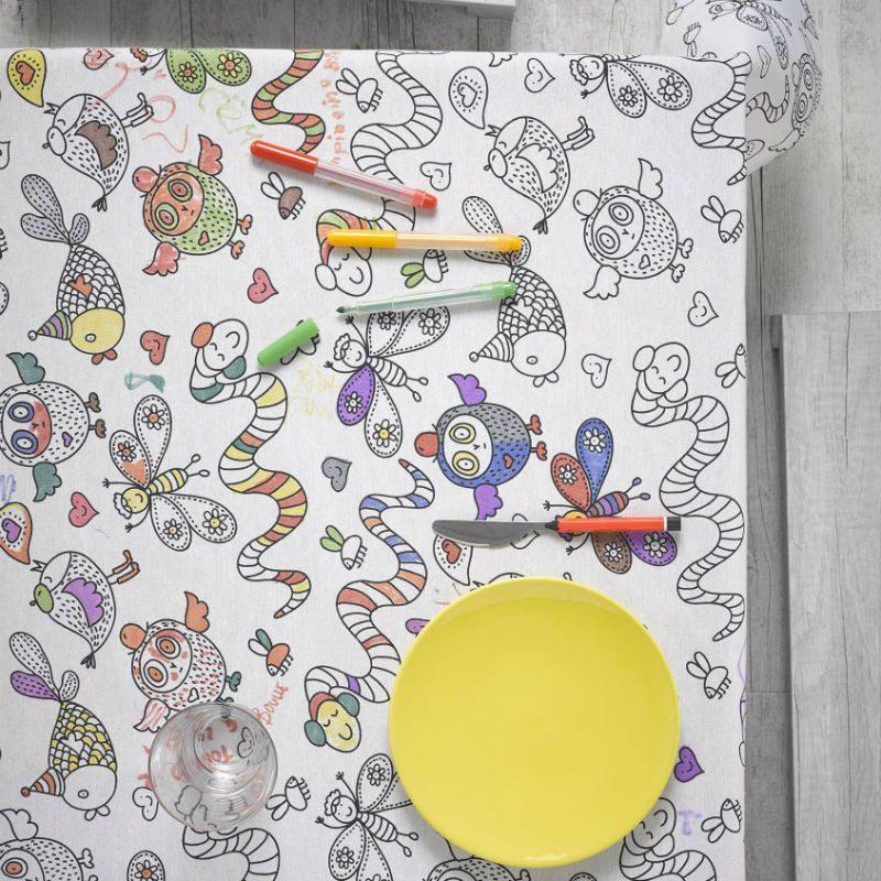 Fata de masa pentru colorat cu animale - Catalog