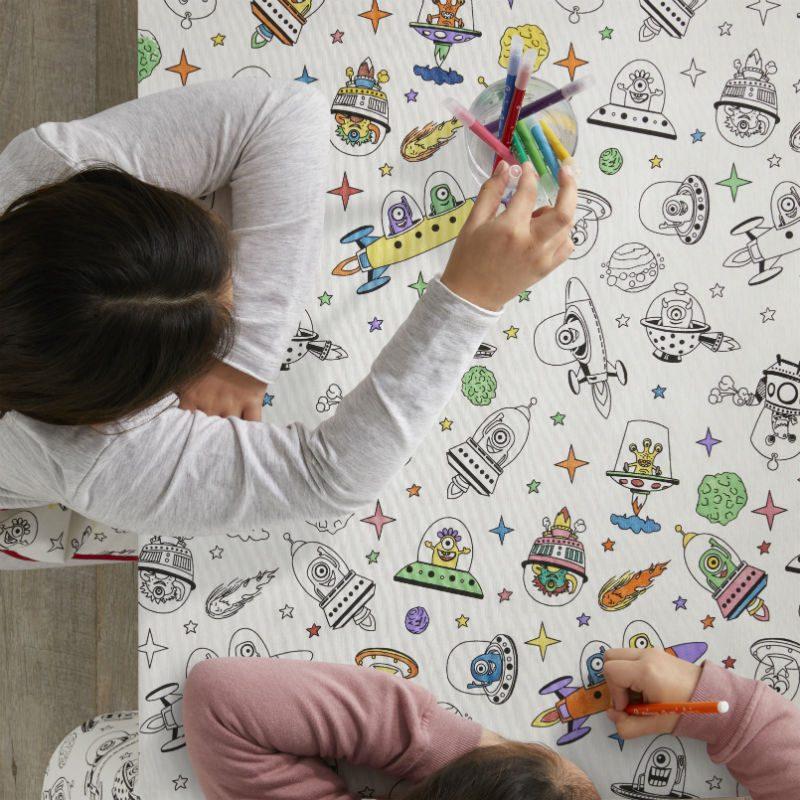 Fata de masa pentru colorat cu nave spatiale - Catalog