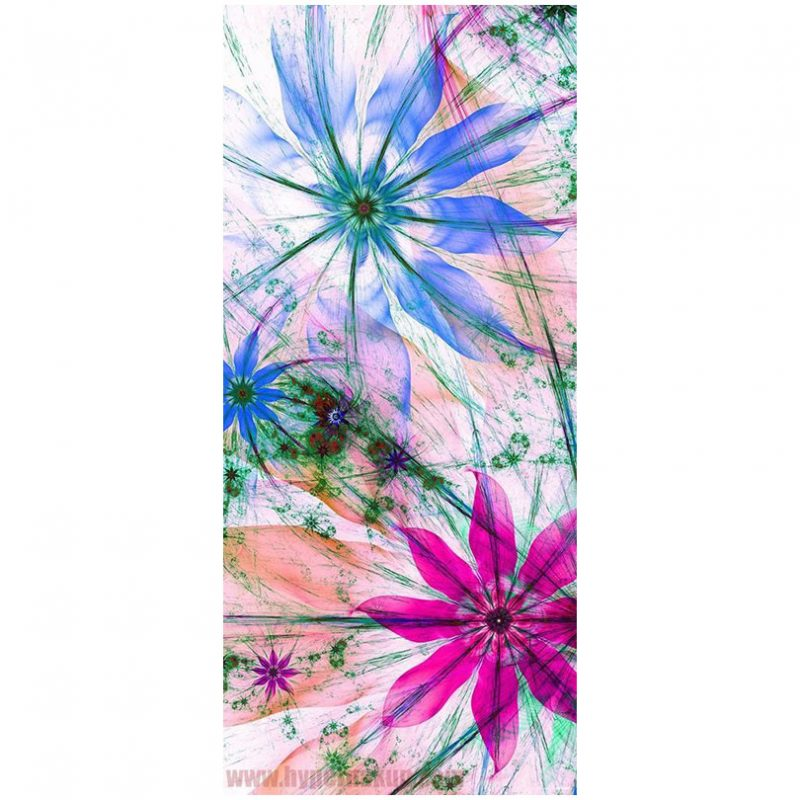 Fototapet cu flori pentru usa