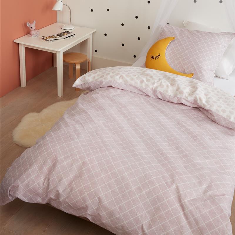 Lenjerie de pat roz pentru o persoana Noolah